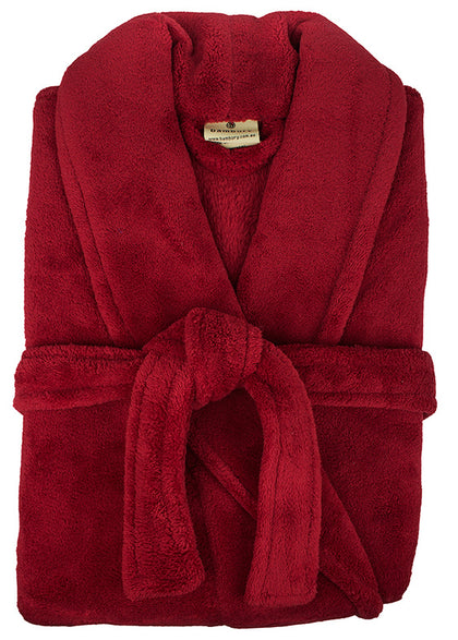 Bambury: Retreat Microplush Robe Red