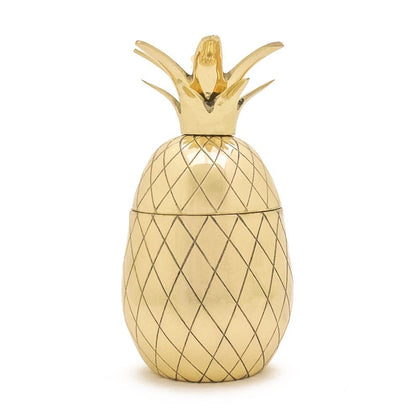 W&P: Pineapple Large Tumbler With Straw - Gold