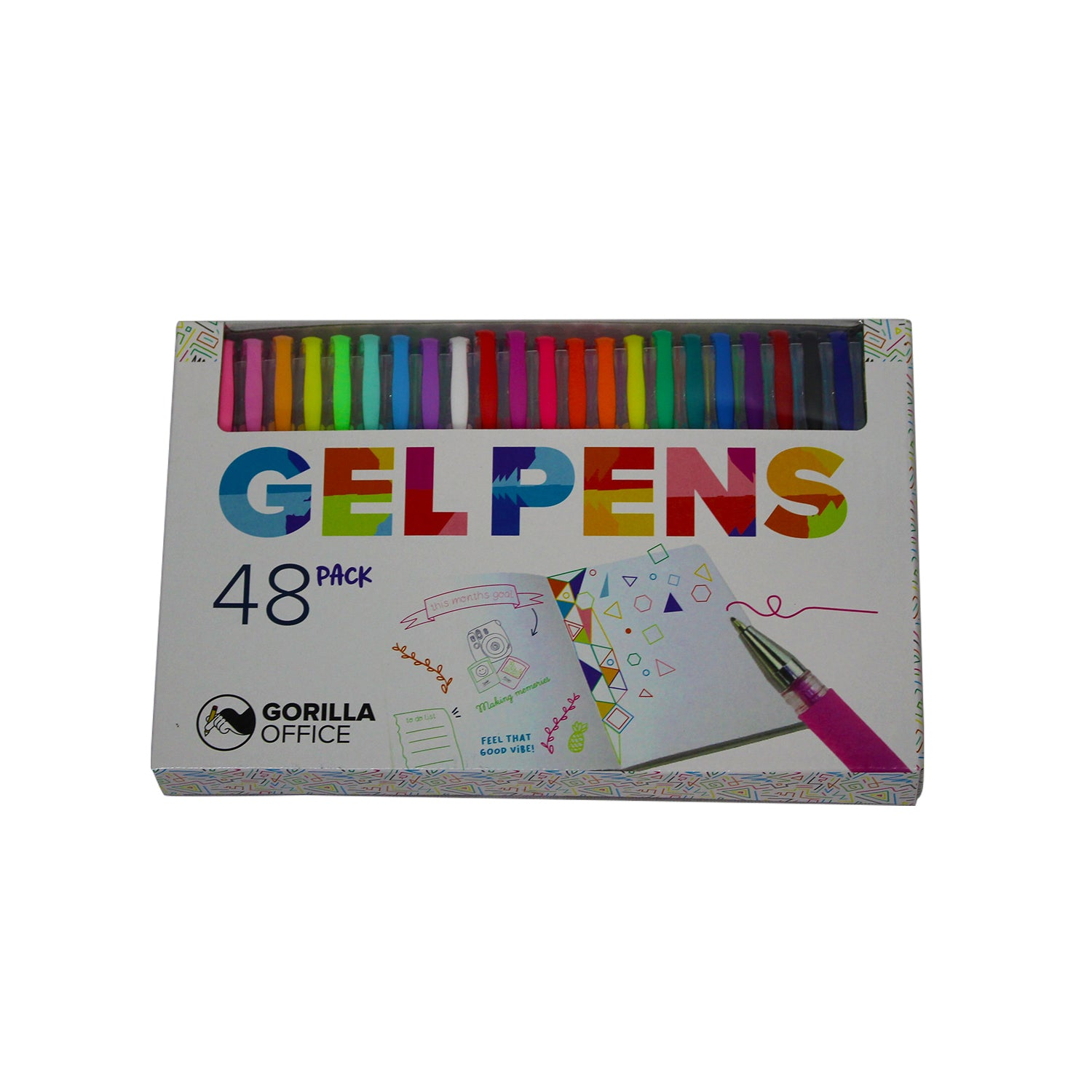 Gorilla Office: Gel Pens - 48 Pack