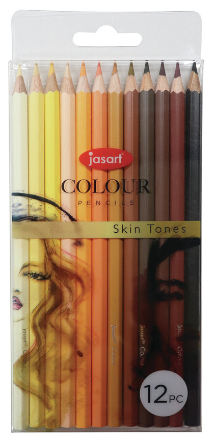 Jasart: Studio Pencil - Skin Tones (Set of 12)