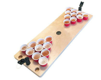 Mini Wooden Tabletop Beer Pong Drinking Game