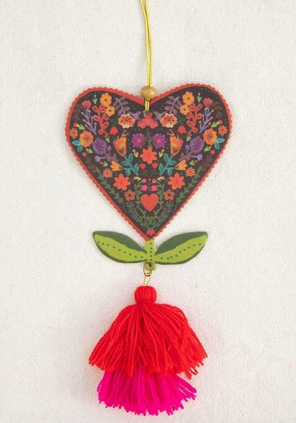 Natural Life: Air Freshener Tassel - Heart Flower