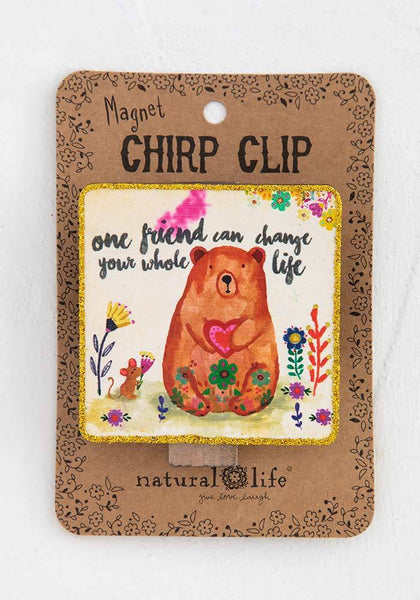 Natural Life: Chirp Magnet Clip - One Friend