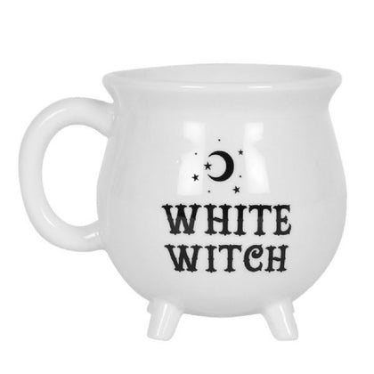 White Witches Brew Cauldron Mug