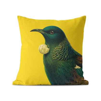 100 Percent NZ: Bright Tui Cushion Cover