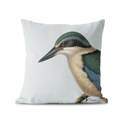 100 Percent NZ: Hushed Blue Kingfisher Cushion Cover