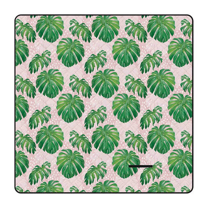 Annabel Trends: Picnic Mat - Spotty Monstera Pink