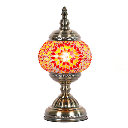Turkish Mosaic Lamp - Red & Yellow