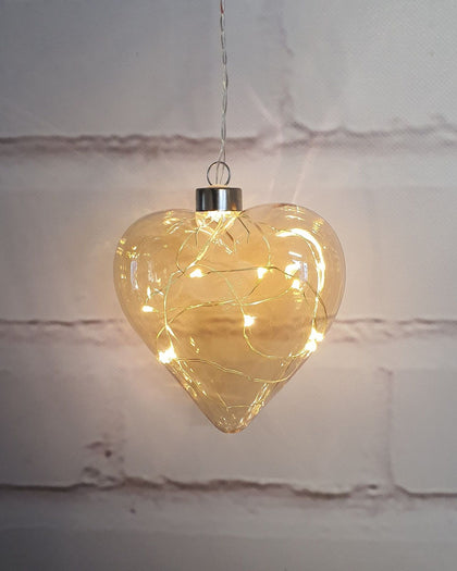 Stellar: Champagne Heart Hanging Glass Light