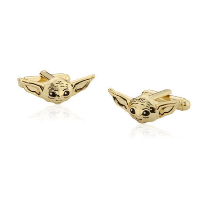 Couture Kingdom: Star Wars The Mandalorian The Child Cufflinks - Gold