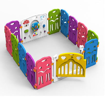 Baby Playpen - Bright Colours (14 Panels)