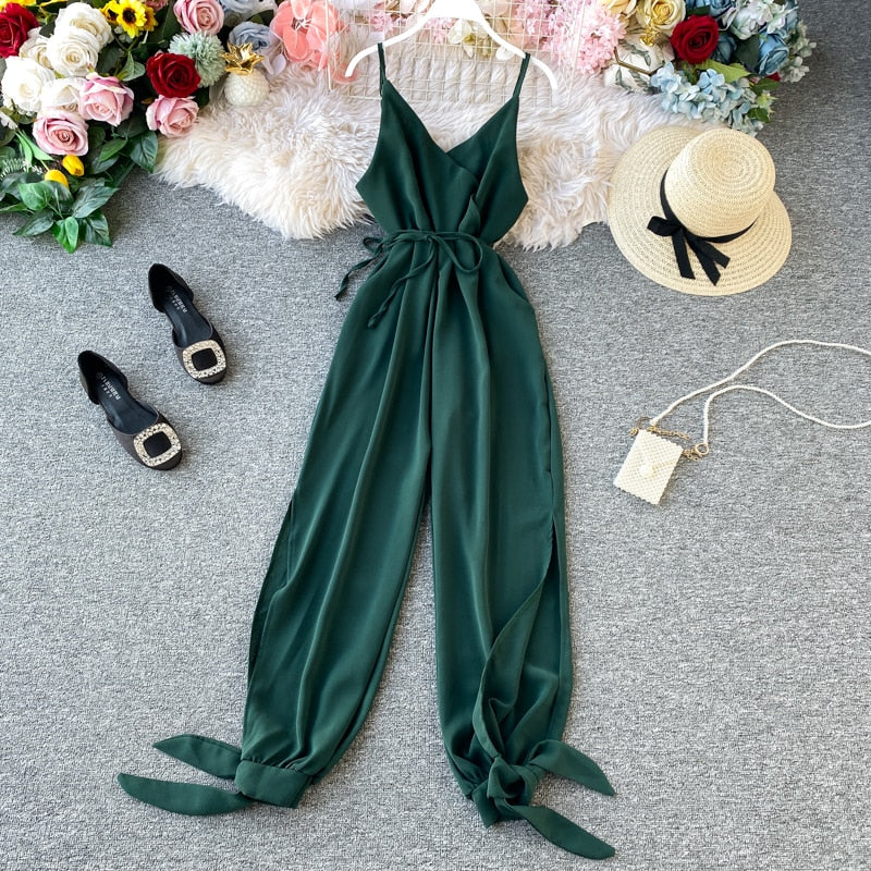 Neverland Ranch Jumpsuit with Tie-up Legs