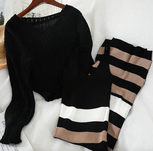 Throne of Stripes Sweater and Dress Set
