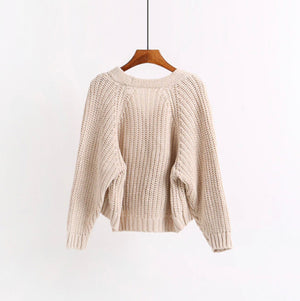 In a Twist Loose Cropped Sweater