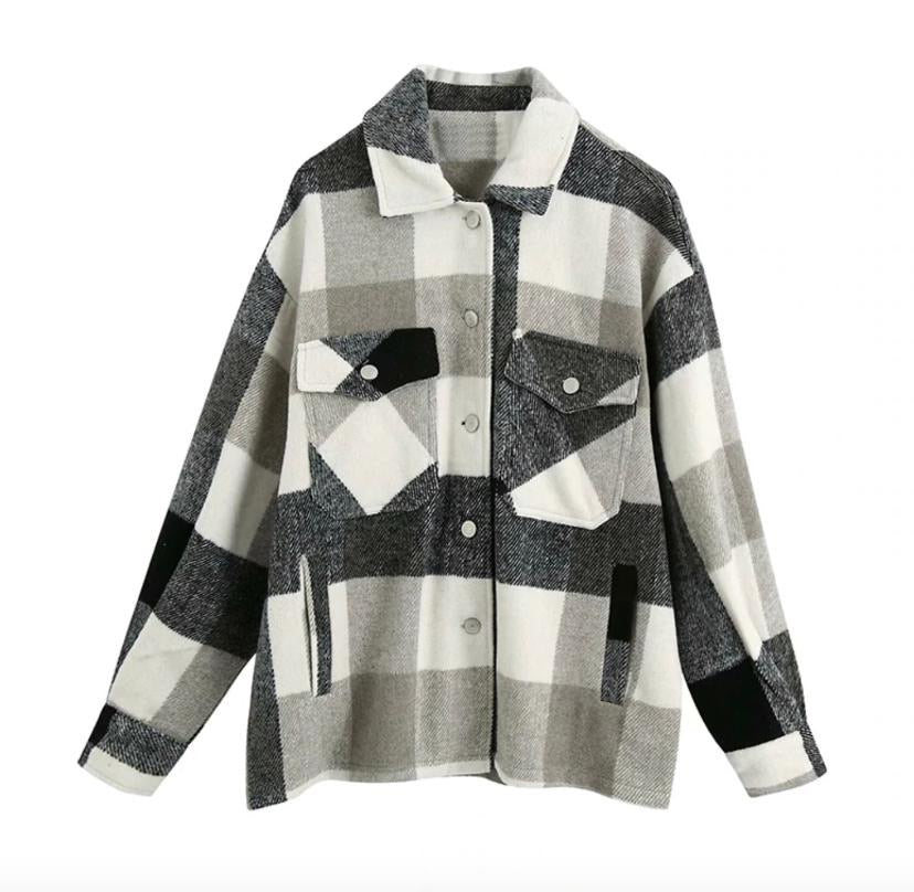 Winter Lumberjack Plaid Coat