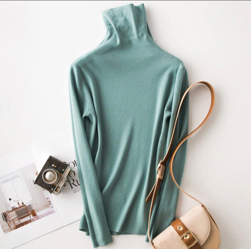 Chic Dreams Soft Turtleneck Pullover