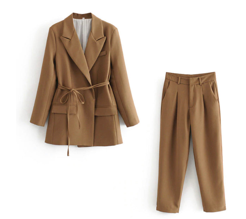 Brownie Chic Pants & Coat Shirt
