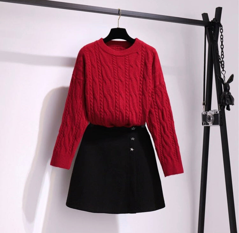 Starstruck Sweater and Skirt