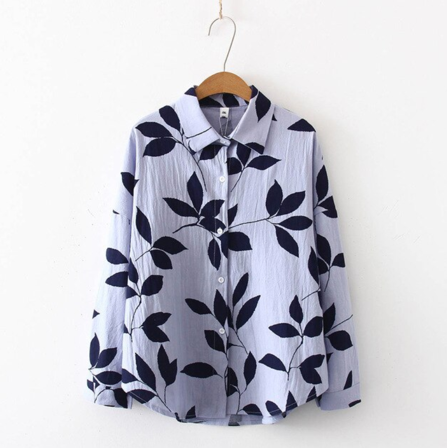 Leaves Forever Printed Blouse