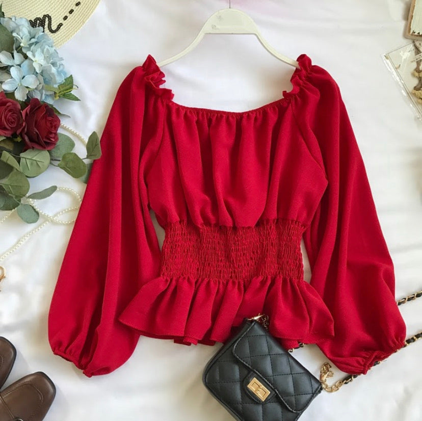 Caribbean Daydreams Cinched Blouse