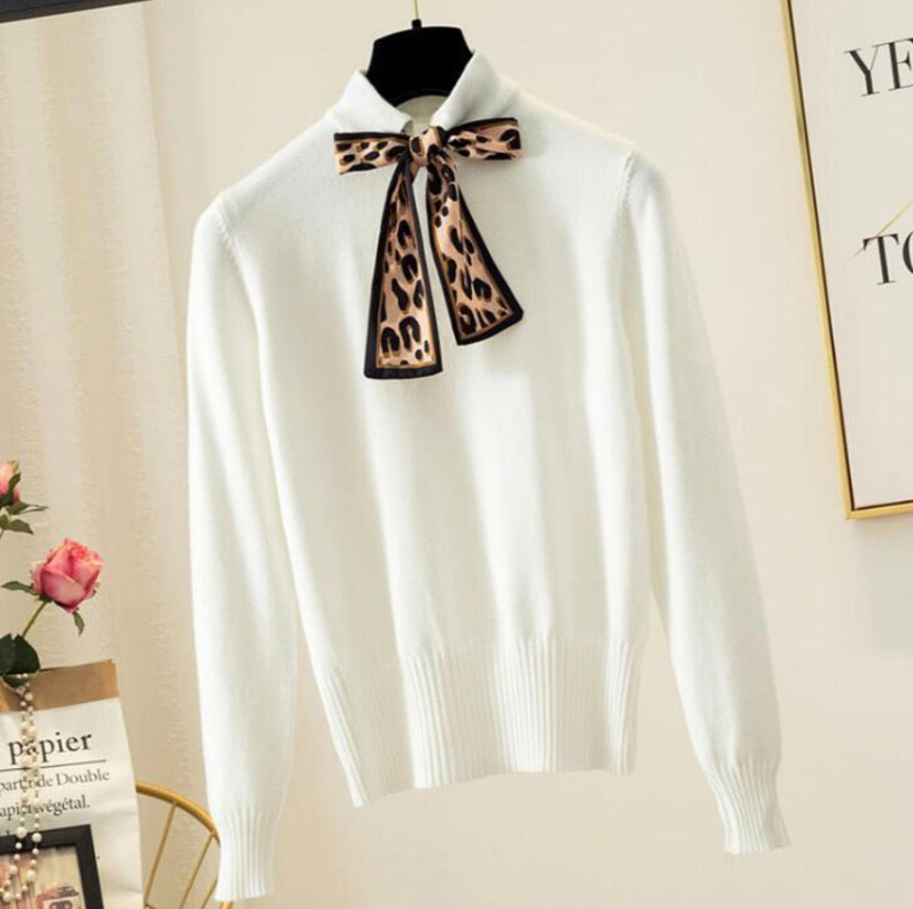 Boldly Beautiful Bow Tie Sweater