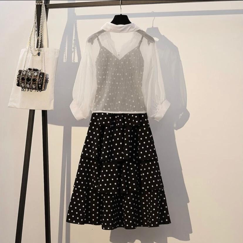 Forever Dots Dress with Pullover