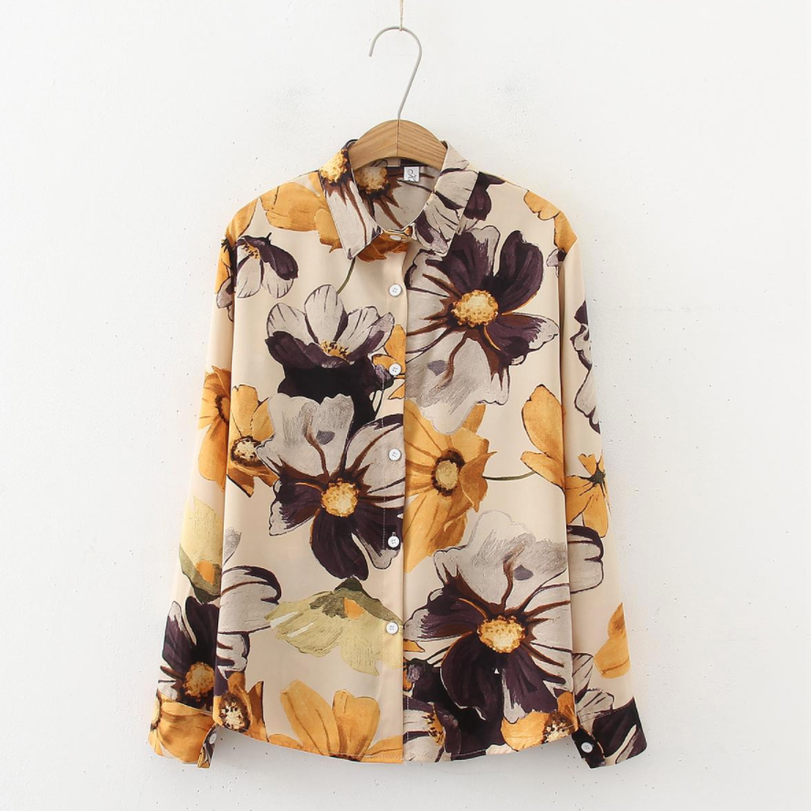 Flower Whirls Printed Blouse