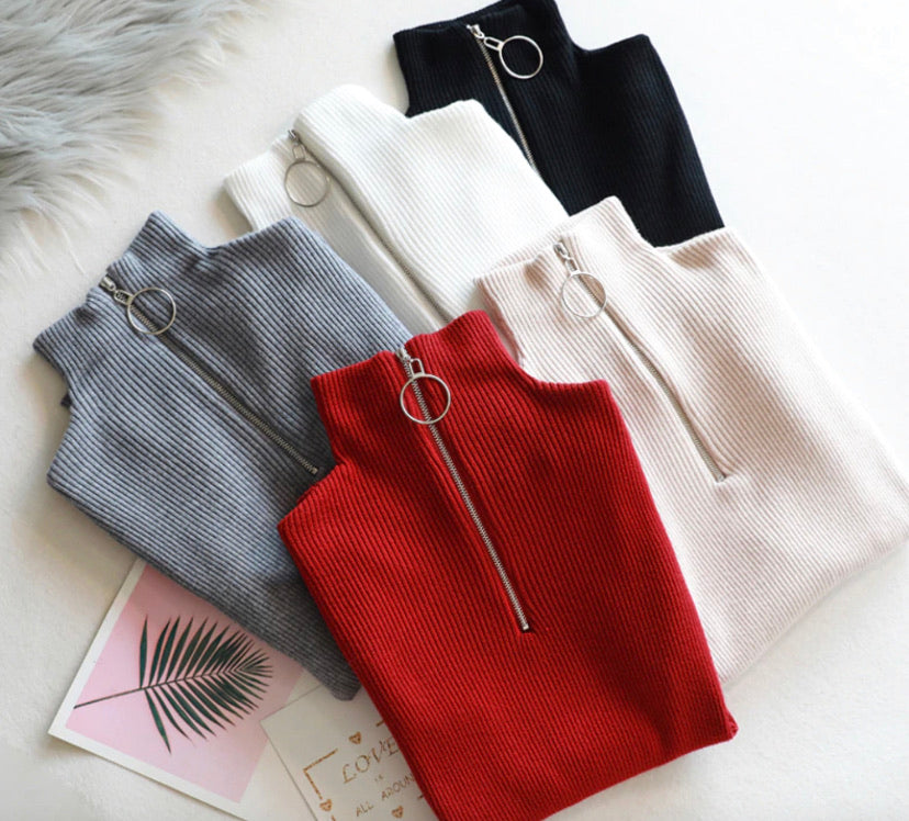 All About the Zip Sweater