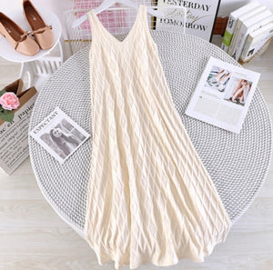Diamonds in the Sky Knitted Sleeveless Dress
