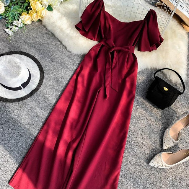 Flare Sleeves Jumpsuit