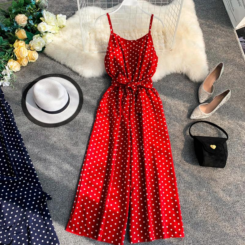 Retro Dotted Jumpsuit