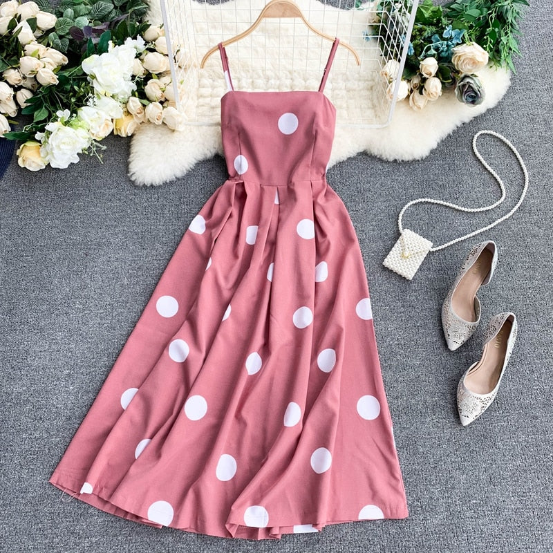 Polka Dots Knee-length Dress