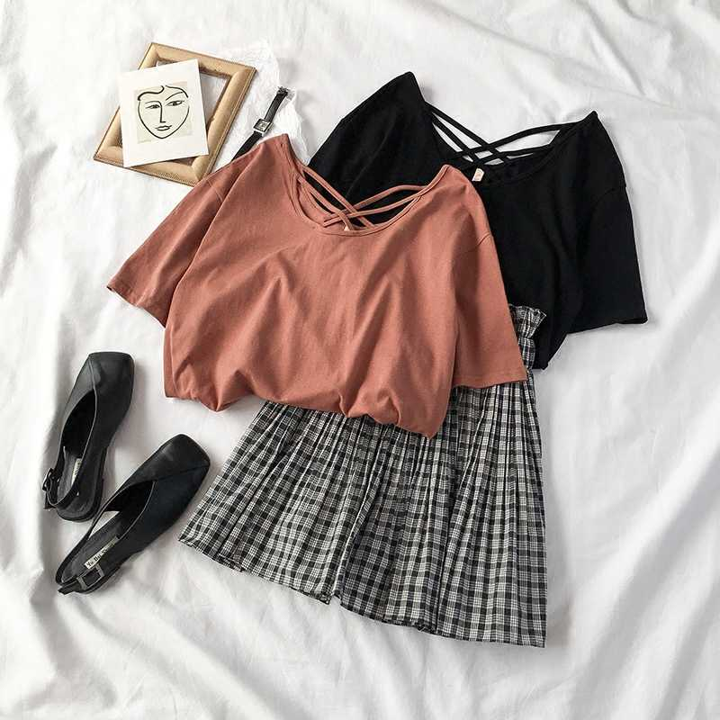 Blouse & Plaid Skirt Set