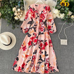 Lantern Sleeved Floral Dress