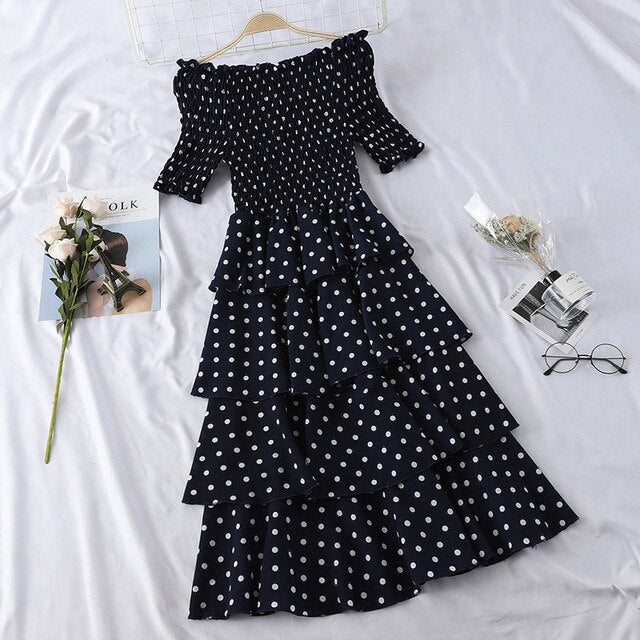 Long Polka Dots Dress
