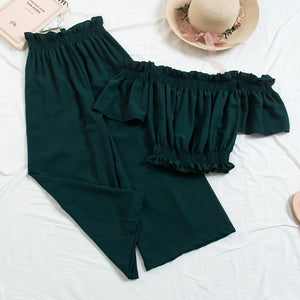 Ruffled Top With Pants