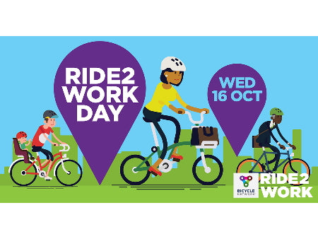 Breakfast with us this Ride2Work Day - Wednesday 16 October