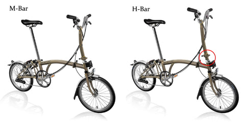 M-type and H-type Brompton handlebars