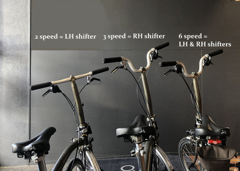Brompton under bar shifters