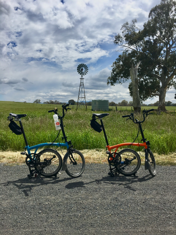 Bromptons - Great Victorian Rail Trail - Mansfield