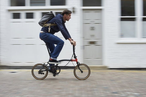 David Millar riding the first edition of the Brompton x CHPT3