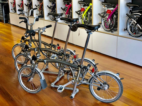 demo fleet at Brompton Junction Melbourne