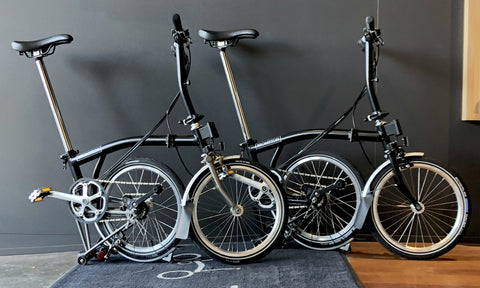Brompton superlight and full-steel models