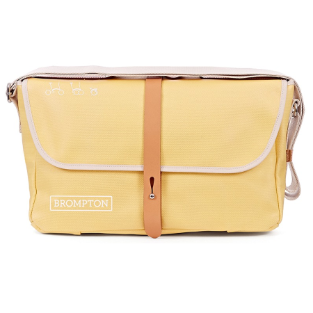 Yellow Canvas Brompton Shoulder Bag with Frame - front