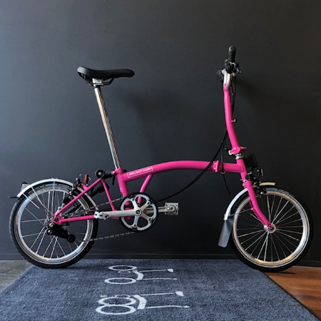 Brompton M6L Hot Pink 2019 foldable bicycle featured