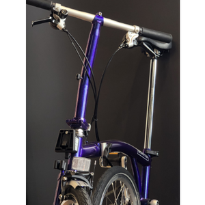 Brompton S6L Purple Metallic 2019 commuter bicycle handlebar and seatpost height