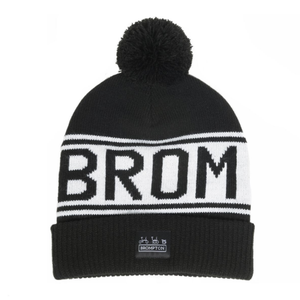 Brompton Logo Knitted Beanie Hat - front