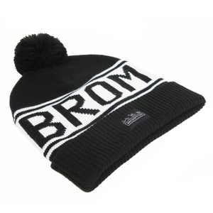 Brompton Logo Knitted Beanie Hat - side