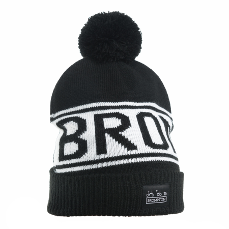 Brompton Logo Knitted Beanie Hat - on