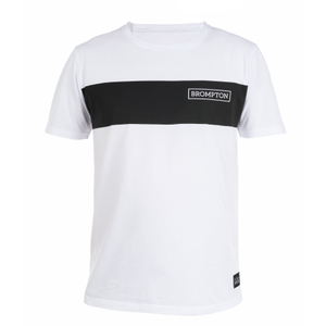 White Brompton Logo T-shirt - Small - front